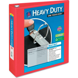 "Avery® Heavy-Duty View Binder with One Touch EZD Rings, 2"" Capacity, Red"