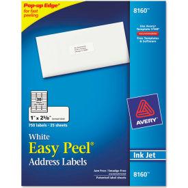 Avery® Easy Peel Inkjet Address Labels, 1 x 2-5/8, White, 750/Pack