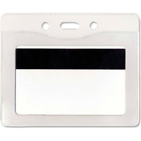 """Advantus Security ID Badge Holder, Horizontal, 3-7/8"""" x 2-5/8"""", Clear, 50/Box by"""