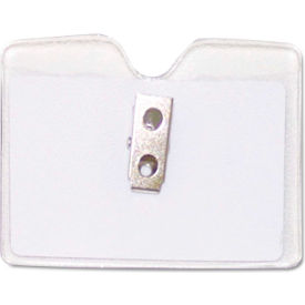 """Advantus Security ID Badge Holder, Horizontal, 3-1/2"""" x 2-1/2"""", Clear, 50/Box by"""