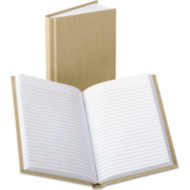 Handy Size Bound Memo Book, Stiff Tan Cover, 7 x 4-3/8 Size, 96 Pages