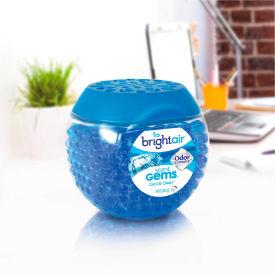 Bright Air Scent Gems Odor Eliminator 10 oz. Jar, Cool & Clean 900228 by