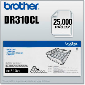 Brother® DR310CL Drum Unit, 25,000 Page-Yield, Black
