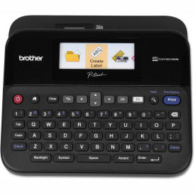 Brother P-Touch PC-Connectable Label Maker with Color Display, Black by