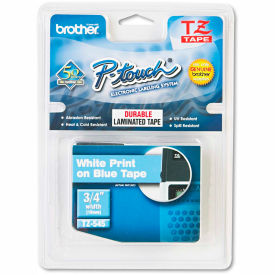 "Brother® P-Touch® TZ Labeling Tape, 3/4""W, White on Blue"