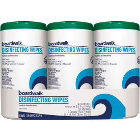 "Disinfecting Wipes, 8"" x 7"", Fresh Scent, 75 Wipes/Can, 12 Cans/Case"