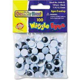 Creativity Street 3446-02 Wiggle Eyes Assortment, Assorted Sizes, Black, 100/Pack