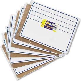 Chenille Kraft 9882-10 Student Dry-Erase Boards, 12 x 9, Blue/White, 10/Set