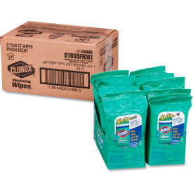 Clorox® Disinfecting Wipes To Go Fresh Scent, 9 Wipes/Pack, 24 Packs/Case - 01665