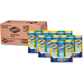 """Clorox® Disinfecting Wipes, 7"""" x 8"""", Fresh/Lemon Variety Pack, 35/Can, 15 Cans/Case - 30112"""
