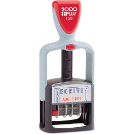 """2000 PLUS® Two-Color Word Dater, 1 3/4 x 1, """"Received"""", Self-Inking"""