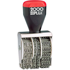 """2000 PLUS® Traditional Date Stamp, Six Years, 1 3/8 x 3/16"""""""