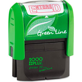 2000 PLUS 2000 PLUS Green Line Message Stamp, Entered, 1 1/2 x 9/16, Red by