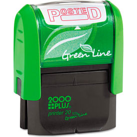 2000 PLUS® 2000 PLUS Green Line Message Stamp, Posted, 1 1/2 x 9/16, Red