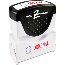 Accustamp2 Shutter Stamp with Microban, Red/Blue, ORIGINAL, 1 5/8 x 1/2