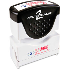 Accustamp2 Shutter Stamp with Microban, Red/Blue, ENTERED, 1 5/8 x 1/2