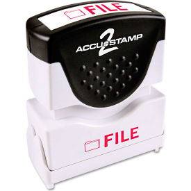 Accustamp2 Shutter Stamp with Microban, Red, FILE, 5/8 x 1/2