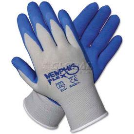 Memphis 96731S Memphis Flex Seamless Nylon Knit Gloves, Small, Blue/Gray, 1 Pair