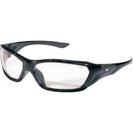 Crews FF120 ForceFlex Safety Glasses, Black Frame, Clear Lens