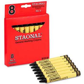 Crayola 5200023051 Staonal Marking Crayons, Black, 8/Box
