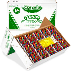 Crayola 528019 Classpack Regular Crayons, Assorted, 13 Caddies, 832/Box