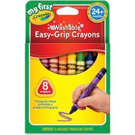 Crayola 811308 My First Washable Triangular Crayons, Wax, 8/Set