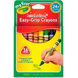 Crayola 811316 My First Washable Triangular Crayons, Wax,16/Set