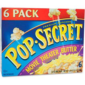 Pop Secret DFD57706 - Popcorn, Microwave, Movie Theater Butter, 3.5 Oz, 6/Box