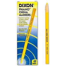 Dixon 73 China Marker, Yellow, Dozen by