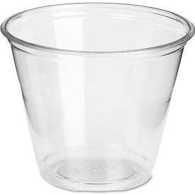 Dixie® Translucent Plastic PETE Cups, Cold, 9 oz, Regular Size, 20 Packs of 50/Carton