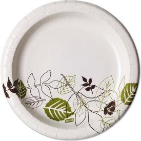"""Dixie® UX9PATHPK, Pathways Paper Plates, 8-1/2"""" Dia., Green/Burg/Wht, 1000/Carton"""