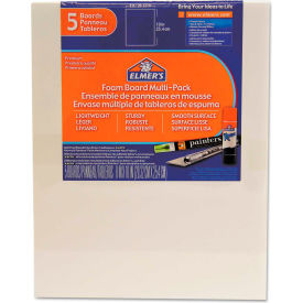 "Elmer's Pre-Cut White Foam Board Sheets, 8"" x 10"", 5/PK by"