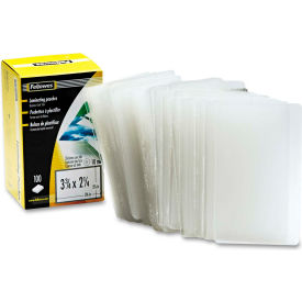 Fellowes® Laminating Pouch, 10 mil, 2 1/4 x 3 3/4, Business Card Size, 100/Pack