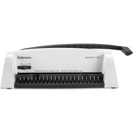 Fellowes® Starlet2+ Manual Comb Binding Machine, 19 1/2 x 8 x 5 1/2, White