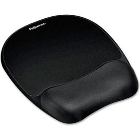 Fellowes® 9176501 Memory Foam Mouse Pad/Wrist Rest, Black