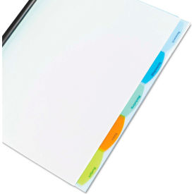 GBC Polypropylene View-Tab Report Cover, Binding Bar, Letter, Holds 40 Pages, Clear by