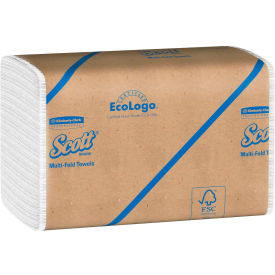 SCOTT Multifold Paper Towels, 9-1/4 x 9-1/2, White, 250/Pack, 16/Carton