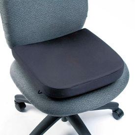 "Memory Foam Seat Rest, 14-1/2""W x 13-1/2""D x 2""H, Black"