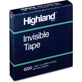 """Highland™ Invisible Tape, 1"""" x 2592"""", 3"""" Core"""
