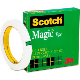 """Scotch® Magic Tape, 3/4"""" x 72yds, 3"""" Core, Clear"""