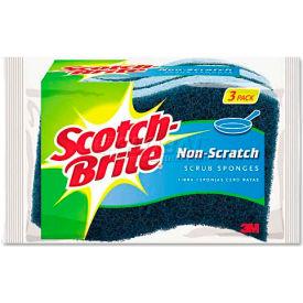 3M Scotch-Brite™ Non-Scratch Multi-Purpose Scrub Sponge, Light Blue/Blue, 3 Sponges - MP38D