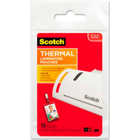 Scotch ID Badge Size Thermal Laminating Pouches, 5 mil, 4 1/4 x 2 1/5, 10/Pack by