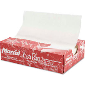 """Marcal® Eco-Pac Natural Interfolded Dry Wax Paper, 8"""" x 10.75"""", 500 Sheets/Box"""