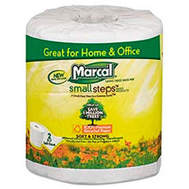 100% Premium Recycled 2-Ply Embossed Toilet Tissue, 48 Rolls/Carton - MRC6079