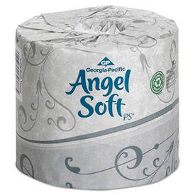 Angel Soft ps Premium Bathroom Tissue, 450 Sheets/Roll, 20 Rolls/Carton - GEP16620