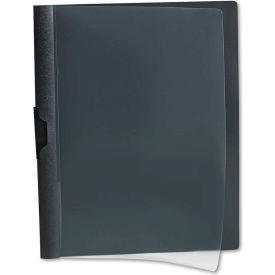 Oxford Polypropylene No-Punch Report Cover, Letter, Holds 30 Pages, Clear/Black by