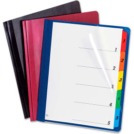Oxford Extra-Wide Clear Front Report Covers, Letter Size, Black, 25/Box by
