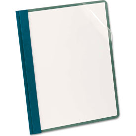 Earthwise by Oxford Recycled Clear Front Report Covers, Letter Size, Blue, 25/Box by