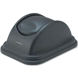 Rubbermaid® RCP306700BK Rectangular Free-Swinging Plastic Lids, Black