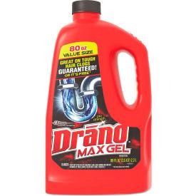 Drano® Max Gel Clog Remover, 2.5 Quart Bottle, 6 Bottles - 693772